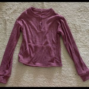 Dusty Pink Sweater with a pocket
